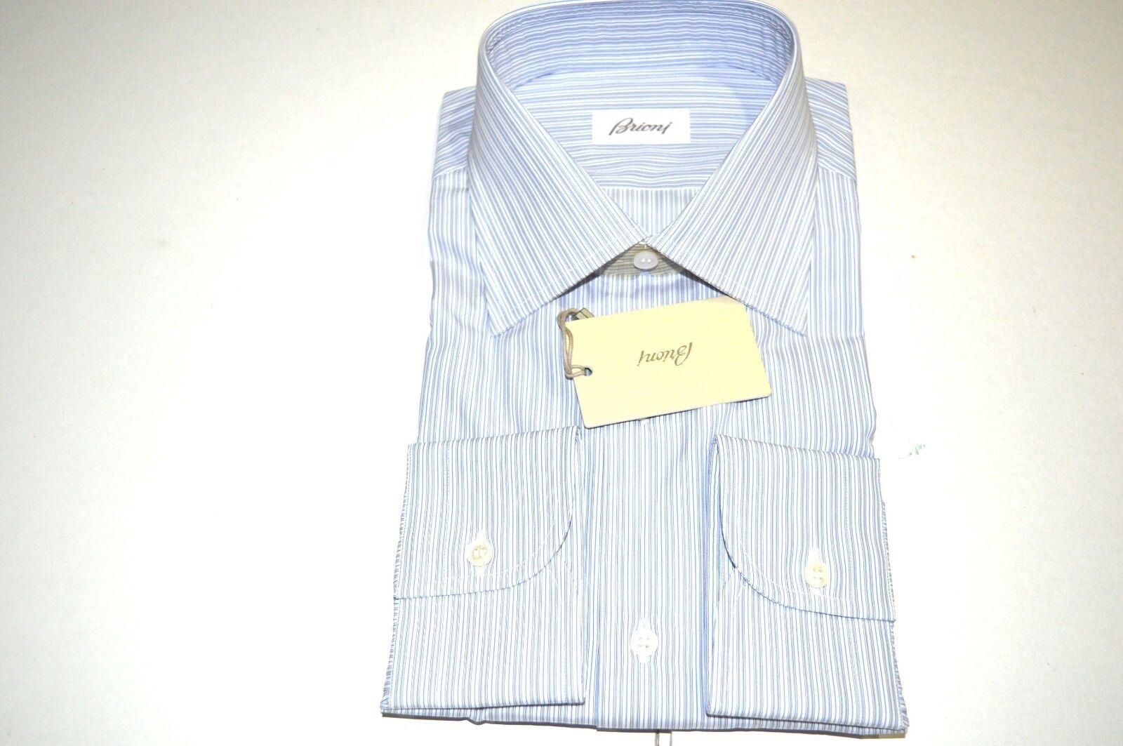 NEW  BRIONI Dress SHIRT 100% Cotton Size 17.75  Us 45 Eu  (Store Code B1)