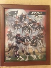 New England Patriots 2004 PhotoFile Tom Brady & Team Roster In Action Photo