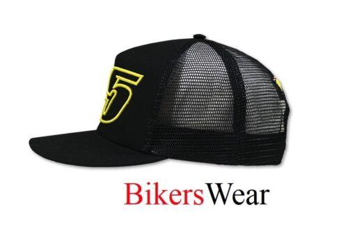 Moto GP Rider Cal Crutchlow 35 Black Flat Visor Trucker Cap Universal One Size