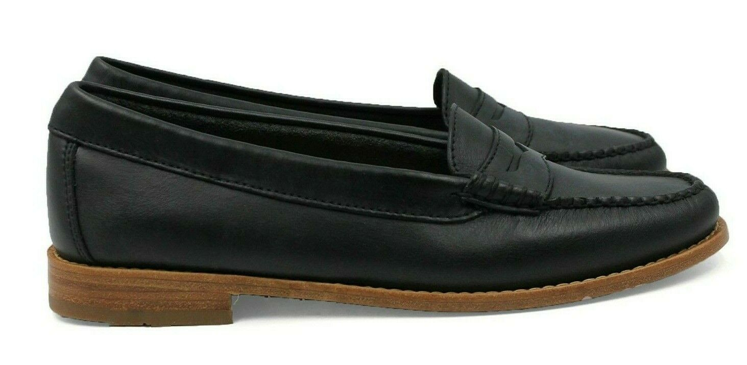 G.H. BASS & CO. Weejuns Winslet Wouomo Leather Loafer - nero - Dimensione 6 - NEW