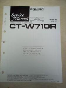 Pioneer Service//Repair Manual~CT-W901R Cassette Tape Deck~Original~w//fiche