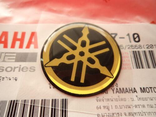 YAMAHA GENUINE 25mm TUNING FORK BLACK//GOLD DECAL STICKER BADGE ***UK STOCK***