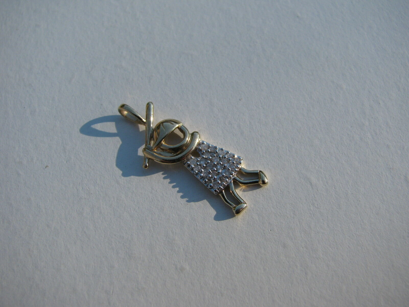 MARKERS MARK M 10K YELLOW gold DIAMONDS FIGURAL PERFORATED BASEBALL PLAYER CHARM