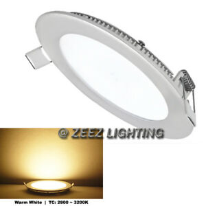 """4X Cool White 9W 6/"""" Round LED Recessed Ceiling Panel Down Lights Bulb Slim Lamp"""