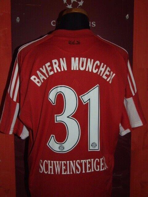 SCHWEINSTEIGER 2010 2011 BAYERN MUNCHEN MAGLIA SHIRT CALCIO FOOTBALL MAILLOT