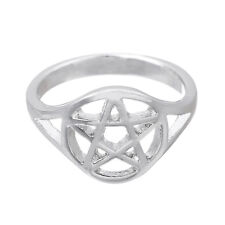 7.5 Wicca Pagan Pentagram Pentacle Ring for Men Women Gifts Jewelry