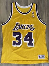Los Angeles La Lakers #34 Shaquille Shaq O'neal Nike NBA Sewn ...
