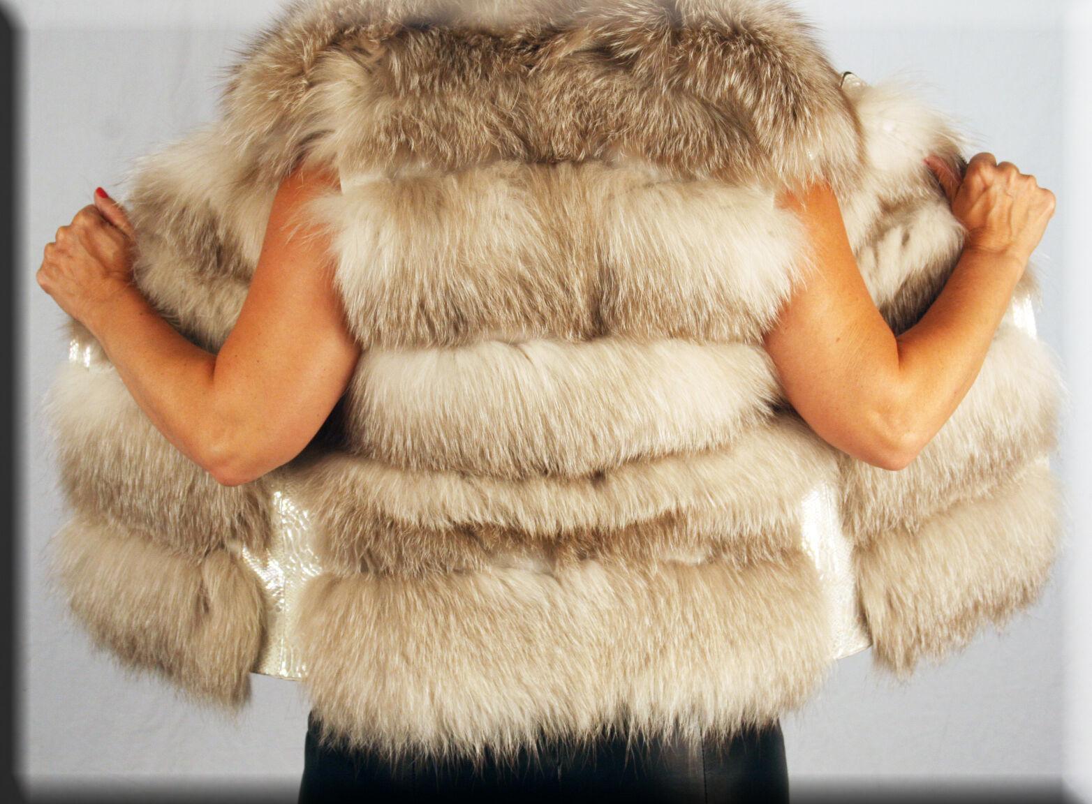 New Fawn Fox Fur Fur Fur Vest Size Small 4 6 S Efurs4less 3dd0f6