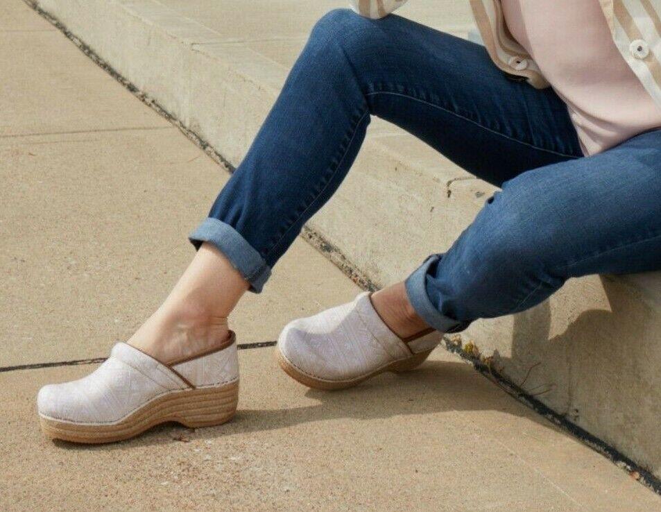 Dansko Jute Pro Ikat Canvas Clogs Shoes
