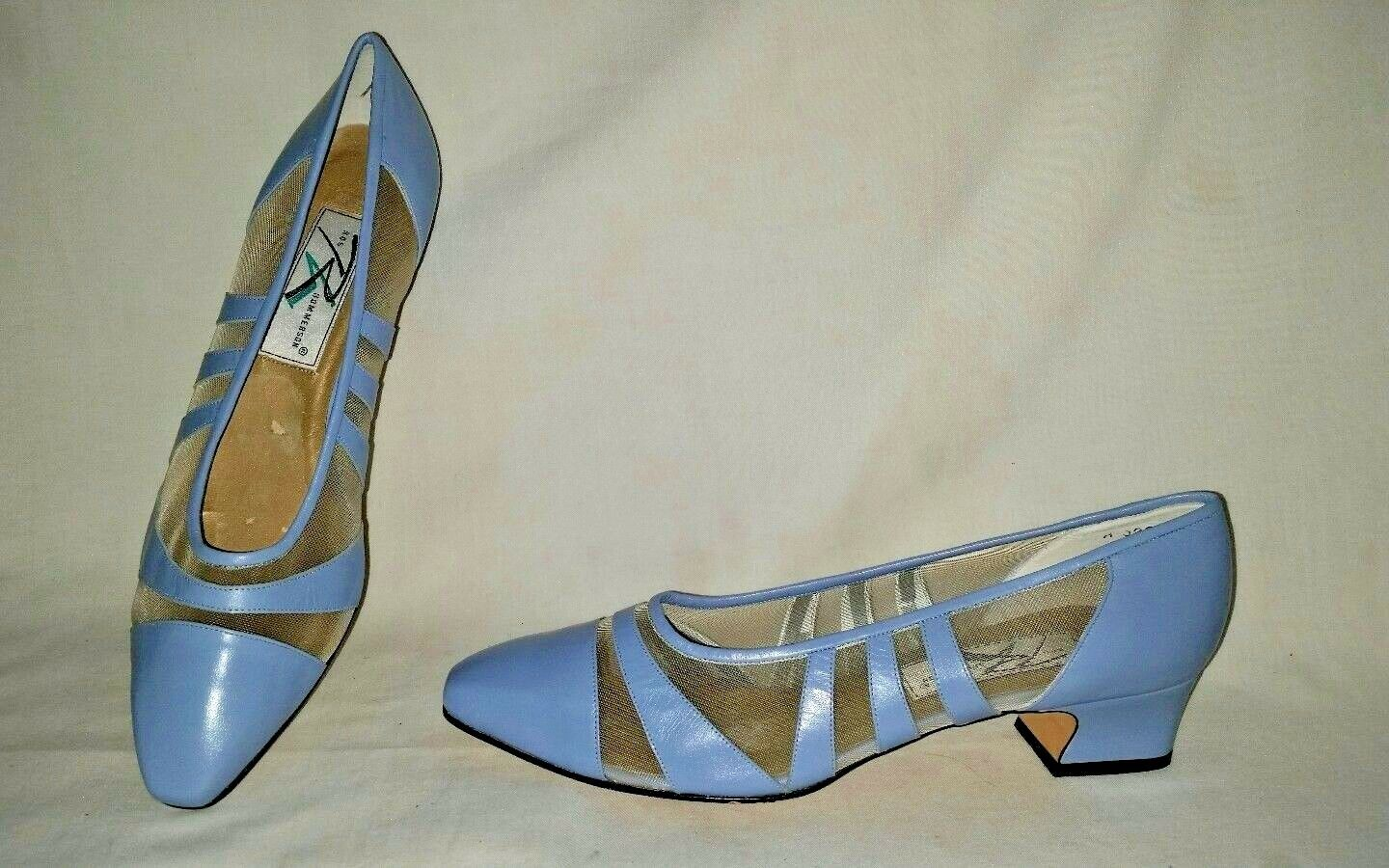 Fabulous ROS HOMMERSON Size 11 NARROW  Low Heel Pumps shoes Leather & mesh