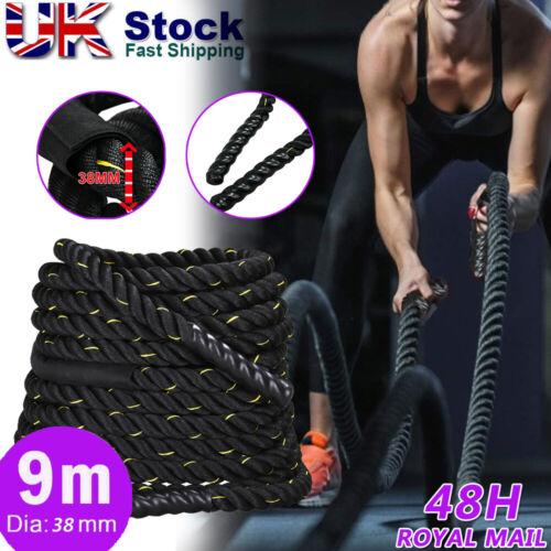 9M Battle Power Rope Battling Band Exercise Fitness Training Bootcamp Workout UK