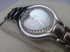 Beautiful Ebel Beluga Mother of Pearl Heart shaped 27 mm Diamond Women's Watch