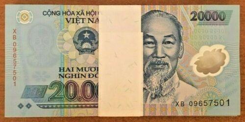 Dong VND X 100 Pieces New P-120 UNC Bundle Lot Note Vietnam 20,000 20000