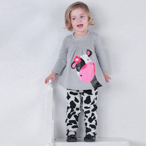 Toddler Kids Girls Tracksuit Sweatshirt Tops Jogging Pants Outfits Clothes Set
