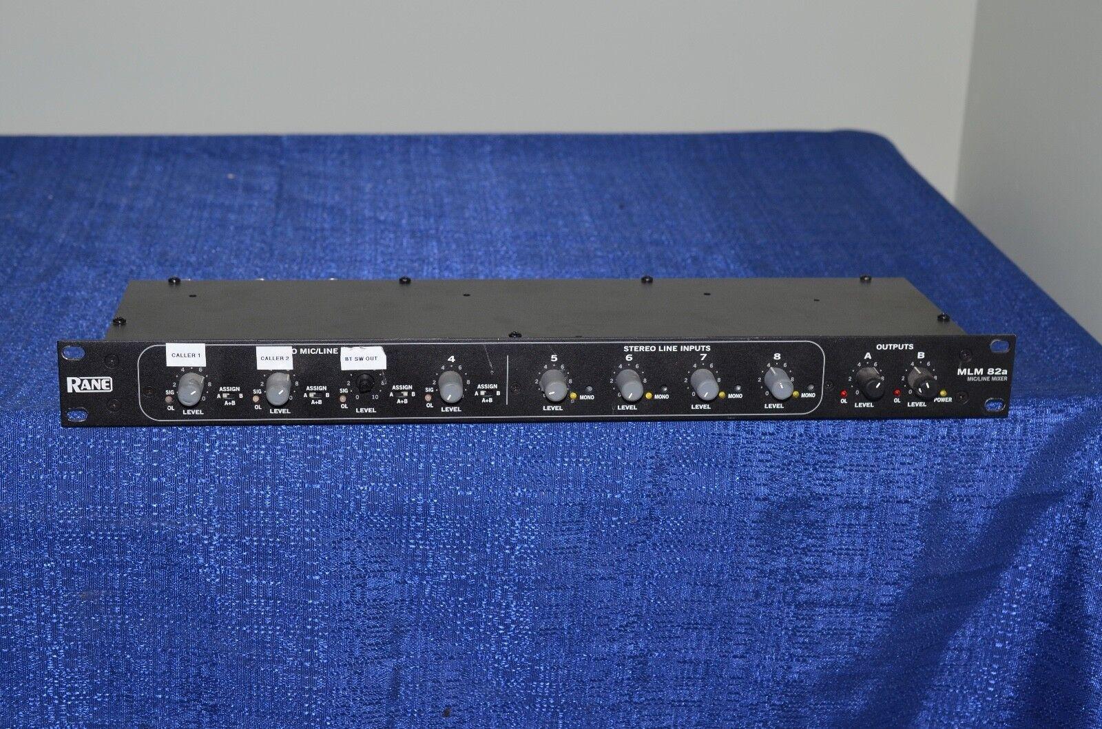 Rane Mlm 82a Microfono Line Mixer Fatto Negli S. U. A.N.Quadri Foto