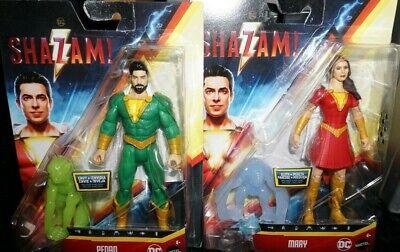 """Mattel DC Multiverse 6/"""" Shazam Movie Family MARY PEDRO Action Figure Set NEW"""