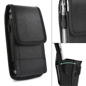 promo code c9009 0679a Details about Belt Clip Vertical Holster Pouch Carrying Case For  Apple/Samsung Large CellPhone