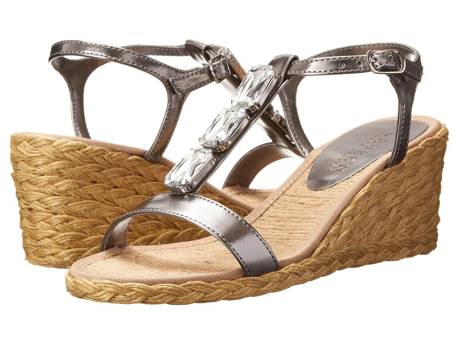 RALPH LAUREN CORALA NEU SILVER Damenschuhe WEDGES SANDALS Schuhe MULTISIZES AS