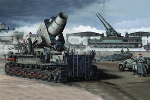Trumpeter 1 35 German Karl Mortar Railway Transport Carrier Cannon 00208 Model