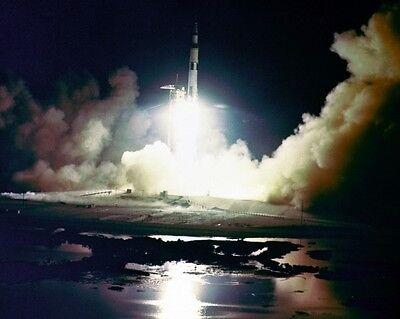 Florida Night View of Missile Row at Cape Canaveral New 11x14 NASA Photo