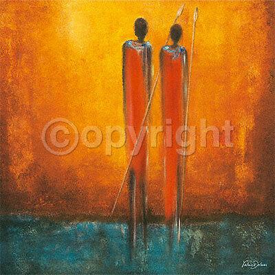 Delmas: Two Native Afrika Fertig-Bild 30x30 Wandbild