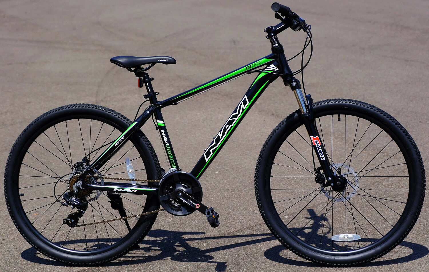 Navi Aluminum Mountain Bike 27.5  Wheel Disc Brakes Shimano 21-speed RS100 Green