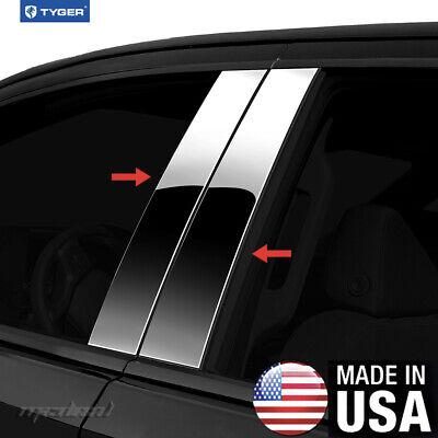 TYGER For 2011-2015 Kia Optima 4PC Stainless Steel Chrome Pillar Post Trim