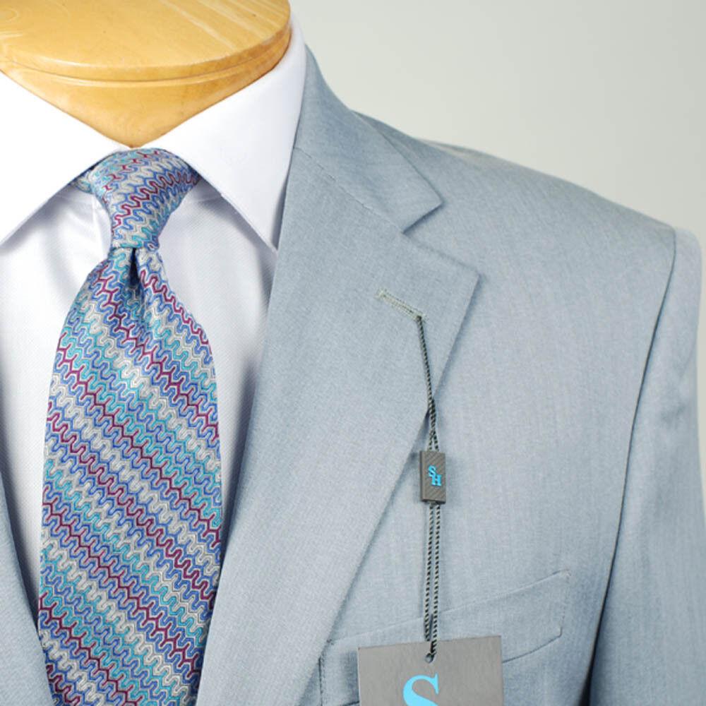52L STEVE HARVEY Slate bluee SUIT SEPARATE  52 Long Mens Suits - SS40