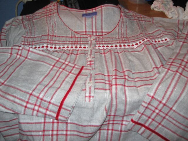WOMENS NIGHTGOWN SIZE 3X CHRISTMAS RED PLAID FLANNEL HOLIDAY LONG NIGHTGOWN  NEW 60e3ba53d