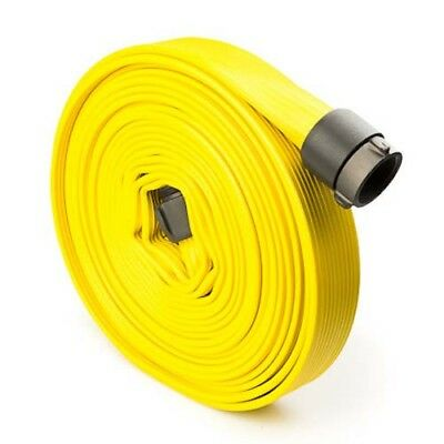 Yellow 1.5 x 50 Double Jacket Fire Hose with Aluminum NH Couplings