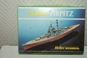MAQUETTE-HELLER-HUMBROL-BATEAU-DESTROYER-TIRPITZ-BOAT-1-2000-NEUF-MODEL-KIT