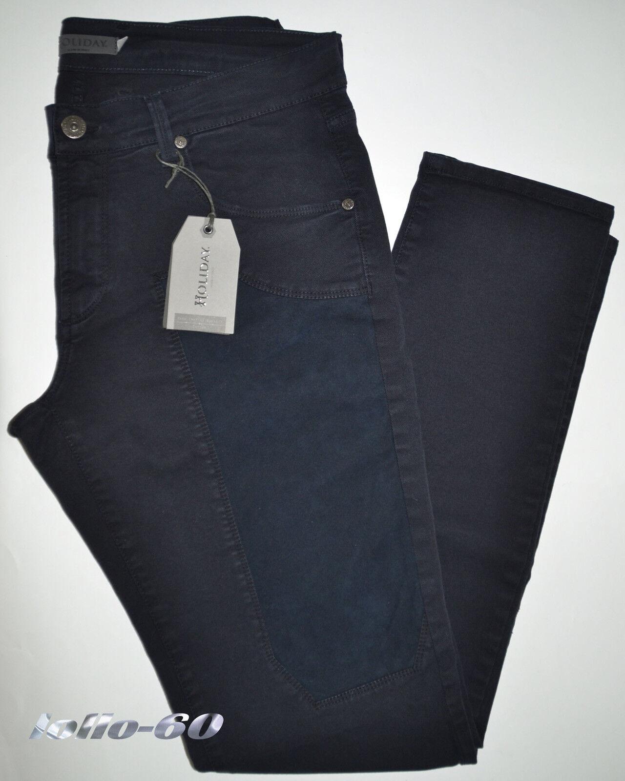 Men's trousers HOLIDAY slim 44 46 48 50 52 54 56 58 60 gabardine strech bluee