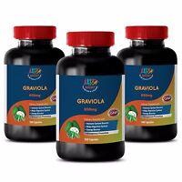 Memory Booster Capsules - Graviola 650mg - Soursop Powder 3b