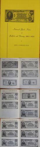 John Muscalus 1973 Reference Book NY-1865-1929 National Bank Notes of Buffalo