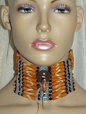 indianer,halsband,28x6cm,choker,indianerschmuck,usa,halsschmuck,amerika,kette