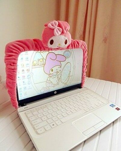 "My Melody Computer LCD Monitor Decoration Pink Plush 16""-21"" ML07"
