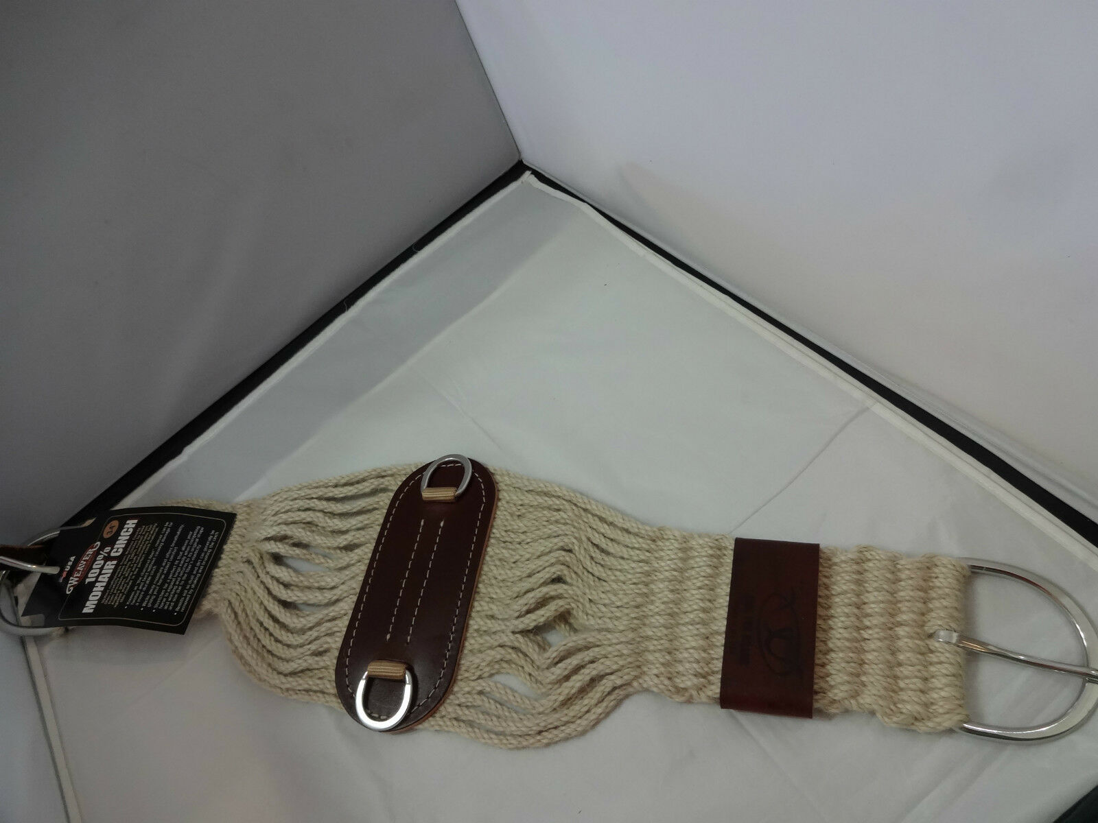 New Weaver Leather Roper Mohair Cinch 27 Strand Western Horse Saddle 34 NWT USA