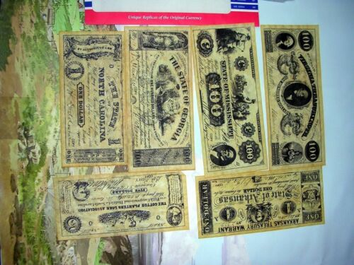 Confederate Currency Civil War, Reproduction-A
