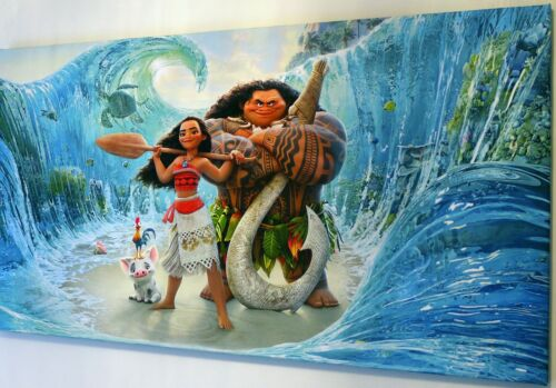 MOANA  CANVAS PRINT WALL ART PICTURE   18 X 32 INCH