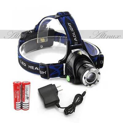 NEW 12000LM CREE XM-L XML T6 LED Headlamp Headlight flashlight head light lamp D