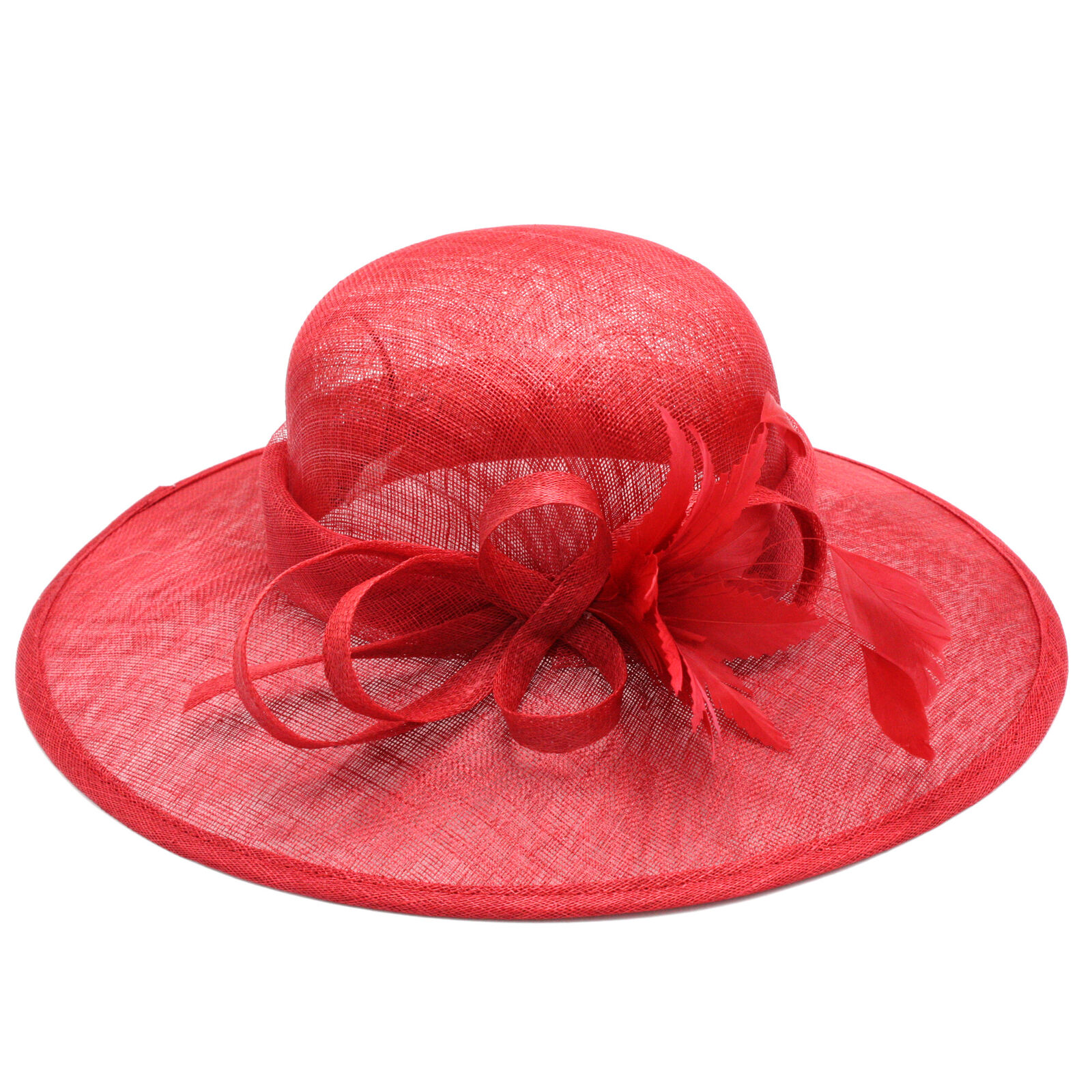Wedding hat picture hat bow feather gramophone (red, black, ivory, green) new