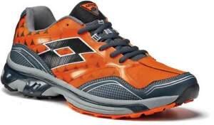 Scarpe-Lotto-Crossside-500-R5927-Moda-Uomo-Running-Pelle-Arancione-Confort