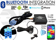 Fiat Punto Multipla Bluetooth streaming adapter handsfree calls AUX MP3 in car