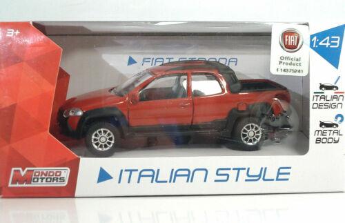FIAT STRADA PICK UP Palio 1//43 MONDO MOTORS ITALIAN COLLECTION metal