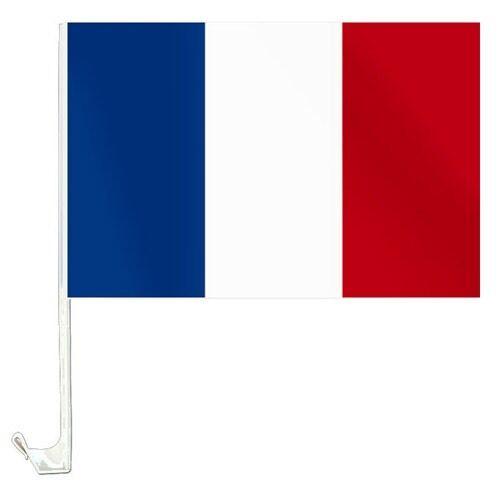 2 Stk Set Autofahne Frankreich Autoflagge Carflag Fahne  2 tlg Flagge Neu