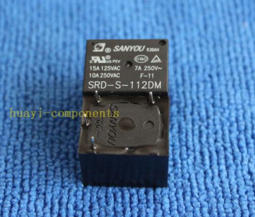12VDC SRD-S-112DM 15A 125VAC 4 Pines Sanyou Bobina de relé de potencia 10 un