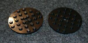 2 Black 6x6 Standard Plate Bricks ~ Lego ~ NEW ~ Castle