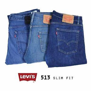 LEVIS-513-SLIM-STRAIGHT-JEANS-DENIM-GRADE-A-W30-W32-W34-W36-W38-W40