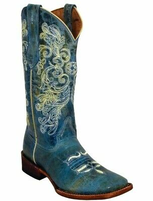 Ferrini 82193-50 Women/'s Southern Charm Turquoise S-Toe Leather Western Boots