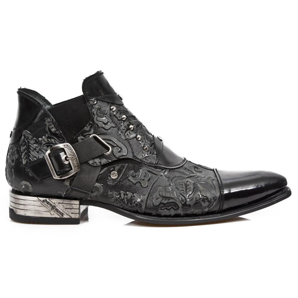 New Rock Nr M.NW135 S2 Negro-botas, VIP hombres
